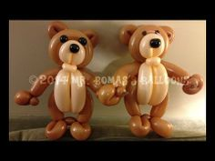 Teddy Bear Balloon Animal Tutorial (Balloon Twisting and Modeling #20 ) - YouTube