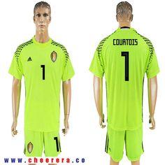 6181a6763 ... de gea in action ecd28 f9293  spain belgium 1 courtois fluorescent  green goalkeeper 2018 fifa world cup soccer jersey d3e51 a15ef