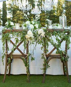 vine reception chair decorations | Aaron Delesie | Blog.theknot.com