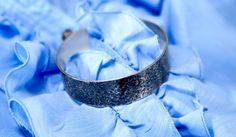 Women's Bracelet Silver Textured Oxidised Cuff Bracelet