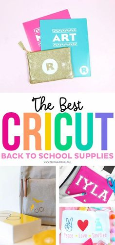 The BEST Cricut Personalized Back to School Supplies - Printable Crush #cricutcreated #backtoschool #cricutcraft #printablecrush #cricut #kidcrafts #cricutkidcraft #schoolcrafts #schoolsupplies Personalized School Supplies, Personalized Teacher Gifts, Great Teacher Gifts, Back To School Teacher, Back To School Supplies, Cricut Tutorials, Cricut Ideas, School Folders, How To Use Cricut