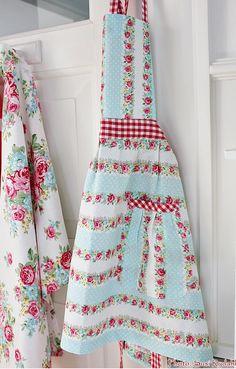 Pretty floral aprons.