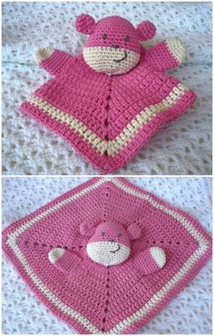 Crochet Teddy Doudou Lovey – Free Pattern - 35 Free Crochet Lovey Patterns for Your Cute Baby - DIY & Crafts
