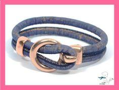Trendy Bracelet in Cork and Rose Gold Zamak Cork by CozyDetailz, $19.90