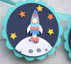 5,4,3,2,1, Blast Off! Create a unique space themed party that is truly out of this world! with this custom outer space themed banner. Make your