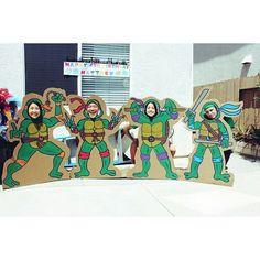 Created by: Ginny Kim For customized artwork, email: ginnyykim@gmail.com Having fun with the Ninja Turtle cardboard cut-outs for Matthew's 4th birthday party! #ninajaturtles #tmnt #birthdayparty #birthdayideas #kidbirthdays #teenagemutantninjaturtles #painting #design