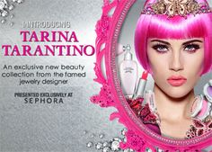I love tarina tarantino! Beaitiful makeup, I have a few pieces from her line mostly because I love her design Tarina Tarantino, Sephora, In Ear Headphones, Jewelry Design, Cosmetics, Hair, Presents, Beauty, Gifts