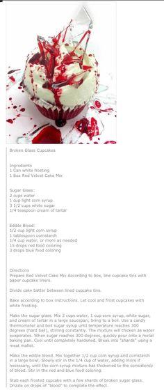 Broken glass #cupcakes -- perfect for #Halloween!