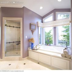 Same Set Up As Our Master Bath Love The Lavender Walls Bathroom