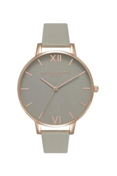 **Olivia Burton Grey Dial and Rose Gold Watch - Topshop- I want it I want it!