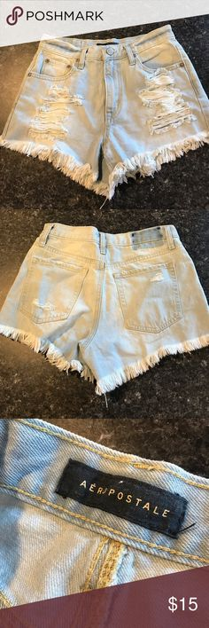 Shop Women's Aeropostale Blue size 4 Jean Shorts at a discounted price at Poshmark. Boho Shorts, Lace Shorts, Jean Shorts, Aeropostale, Fashion Tips, Fashion Trends, Fashion Design, Brand New, Tags