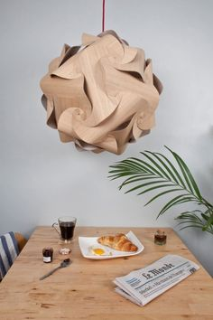 The Naos Pendant Lamp from Alexis Facca  #lamp #lighting #wood