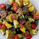 Ensalada de patatas con verduras y salsa de mostaza  | #Receta de cocina | #Vegana - Vegetariana ecoagricultor.com