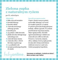 Przepisy dla niemowlaka - Zupki dla niemowlaka | Strona 16 | Baby online Baby Cooking, Baby Eating, Baby Online, Kids And Parenting, Baby Food Recipes, I Foods, Baby Room, Food And Drink, Menu