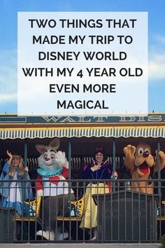 Two things that made our recent trip to Disney World even more magical for mypreschooler.