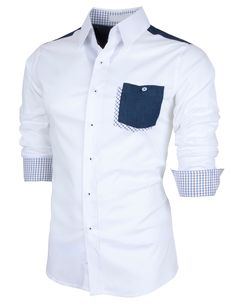 PorStyle Men's Slim Fitted Pocket Point Dress Shirts http://porstyle.com http://www.amazon.com/PorStyle-Fitted-Pocket-Point-Shirts/dp/B00F03JPLC/ref=sr_1_1?s=apparel&ie=UTF8&qid=1378969331&sr=1-1&keywords=porstyle