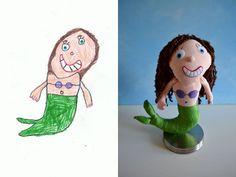 6f2a30b73 Questa artista trasforma i disegni dei bambini in straordinari peluche