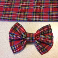 Red Plaid Dog Bow Tie, Christmas Bow Tie, Bow Tie for Dogs, Dog ...