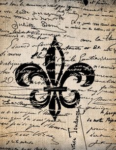 Antique Fleur de Lis French Ornate 4 Script by AntiqueGraphique, $1.00