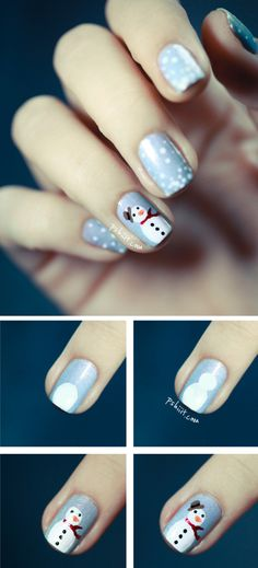 Super easy cute winter nail designs diy