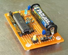 AAA powered Arduino ~~~ For more cool Arduino stuff check out… Electronic Engineering, Electrical Engineering, Electronic Circuit, Computer Engineering, Chemical Engineering, Civil Engineering, Cool Electronics, Electronics Projects, Arduino Programming