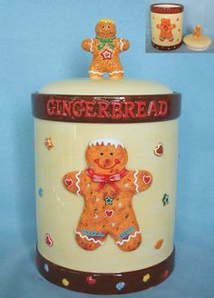 ♥ Gingerbread Man Cookie Jar