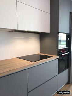 Kitchen Layout Interior, Modern Kitchen Interiors, Kitchen Room Design, Modern Kitchen Cabinets, Modern Kitchen Design, Home Decor Kitchen, Home Kitchens, Kitchen Cupboard Designs, Cuisines Design