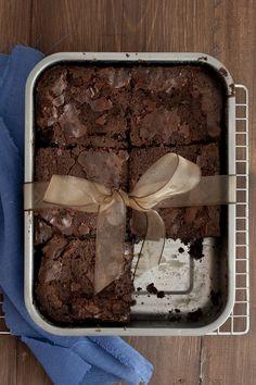 Got to try this recipe. Thomas Keller brownies
