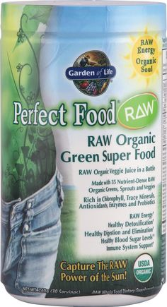 Garden of Life Perfect Food® RAW Organic Green Super Food  Yummy! My new favorite Garden of Life product!