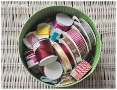 Finally organized my ribbon-chaos --- Das Bänderchaos endlich gezähmt