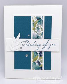 Beautiful Handmade Cards, Simple Handmade Cards, Handmade Sympathy Cards, Handmade Greeting Card Designs, Simple Card Designs, Handmade Greetings, Tarjetas Stampin Up, Karten Diy, Leaf Cards