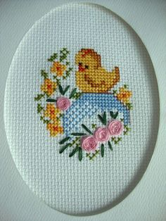 Cross Stitch Cards, Cross Stitch Borders, Cross Stitching, Cross Stitch Embroidery, Cross Stitch Patterns, Easter Crochet Patterns, Easter Cross, Easter Eggs, Embroidery Designs