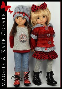 ** Ladybug ** Outfit for Little Darlings Effner 13  by Maggie & Kate Create