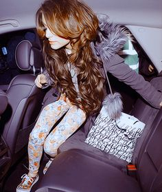 Cher Lloyd. I love the floral jeans, and her hair is incredible.