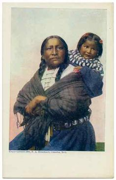 1905 UDB Postcard Native American Indian Sioux Squaw Papoose Frank A Rinehart | eBay