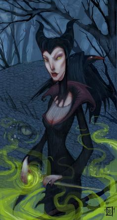 Maleficent by Danielle Otrakji,11X17 print, signed on the front by the artist