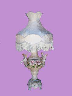 Large Capodimonte Lamps   Capodimonte Large Angel Lamp (SL-510-cap)