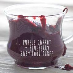 Purple Carrot + Blueberry + Nutmeg Puree