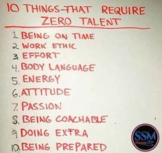 10 things that require zero talent.