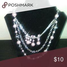Necklace & Earrings Purple Accessories
