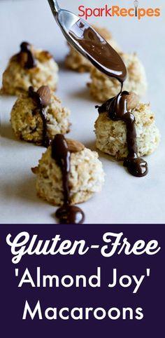 Gluten-Free 'Almond Joy' Macaroons: These sweet bites have just 73 calories each! | via @SparkPeople #food #recipe #dessert #treat #diet