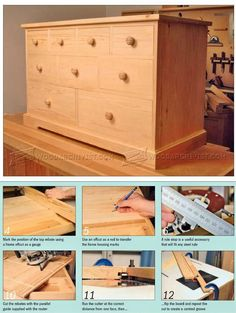 #3159 Build Chest of Drawers - Furniture Plans