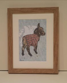 Baby Donkey In Plad Signed Limited Edition Print