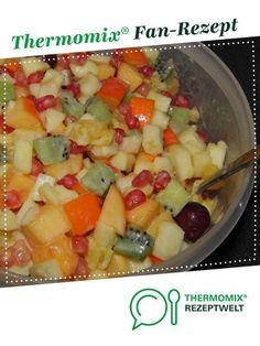 Obstsalat für Feste von banjole. Ein Thermomix ® Rezept aus der Kategorie Desserts auf www.rezeptwelt.de, der Thermomix ® Community.