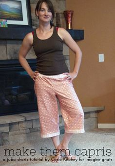 sew: make favorite shorts pattern into capris || imagine gnats