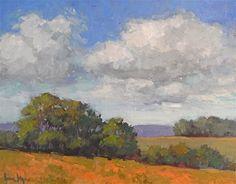 "Daily Paintworks - ""Farmland"" - Original Fine Art for Sale - © Lisa Kyle"