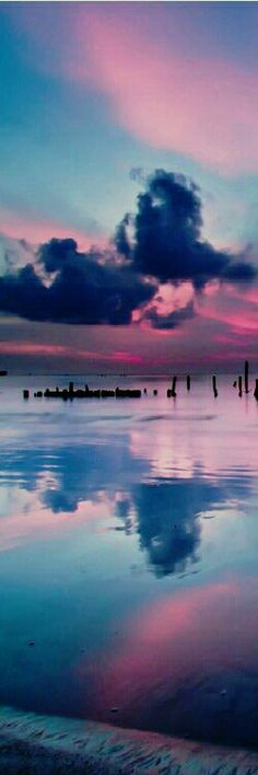 Pink and blue sky....