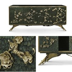 Spellbound Cabinet designed by the brand KOKET with an interior composed of 4 drawers embellished with organic work hardware in aged brass, finish matching exterior😍  Visit their website for more information👉www.bykoket.com👈 😉#interiordesign #interiordesignblog #spellboundcabinet #bykoket #koket #furnituredesign #luxurybrand #luxurydesign