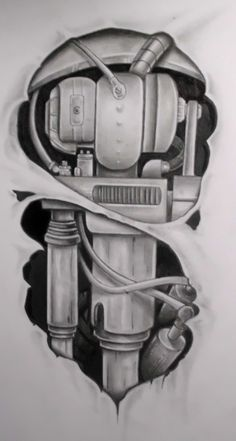 mech tattoo design by karlinoboy on DeviantArt