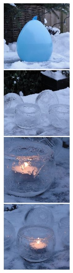 ice light made with a balloon